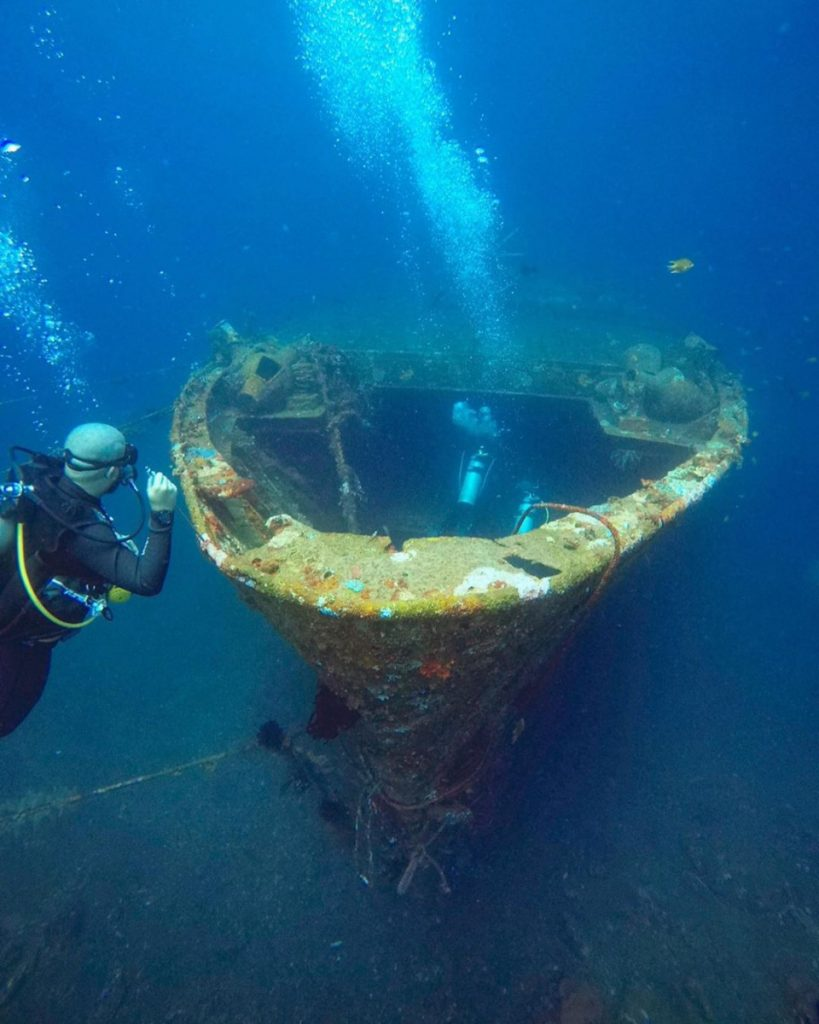A Day in Kubu Boga Wreck Diving Bali